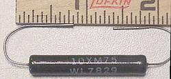 10XM75, 75 Ohm, 10W resistor