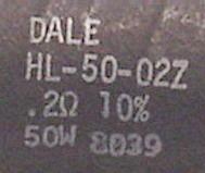 Dale HL-50-02Z, 0.2 Ohm, 50W