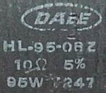 HL-95-08Z 10 Ohm / 95W Resistor