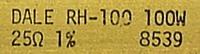RH-100, 25 Ohms, 1%