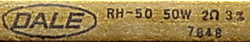 RH-50, 2 Ohms, 3%