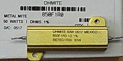 Ohmite 850F1R0, Click for bigger PIC!