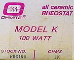 Ohmite Model K, 1K0
