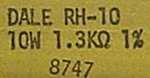 Dale RH10, 1.3K